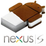 Google employees getting a bite of Ice Cream Sandwich on the Nexus S