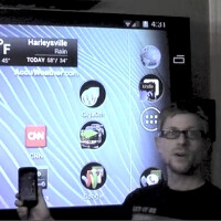 The MHL capability of the Samsung Galaxy Nexus demonstrated on a big screen HDTV