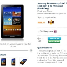 Samsung Galaxy Tab 7.7 asks for $669 at preorder, all for its Super AMOLED Plus display