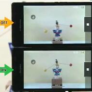 Sharp demoes how optical image stabilization in its 12MP smartphone camera sensor makes video... sharp