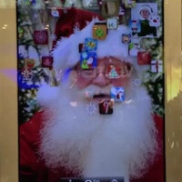Giant iPads appearing at Apple Stores: Holiday displays reveal Santa is on FaceTime