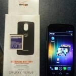 Verizon's Samsung GALAXY Nexus poses with extended battery, stays slim