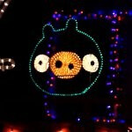 Angry Birds is taken to a new level with one family's Christmas light spectacle