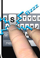 Haptic keyboard for iPhone developed