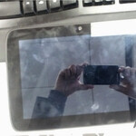 Android tablet with Intel Medfield processor poses for the camera