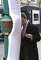 The UK sidewalks safer for texters?!?