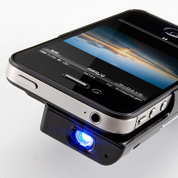 This micro iPhone projector brings 65-inch pictures to your wall, doubles as a battery pack