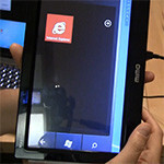 Faux Windows Phone tablet made with Mimo Magic Touch monitor