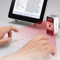 Hammacher Schlemmer outs a $200 laser-generated virtual keyboard for smartphones and tablets