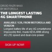 DROID RAZR MAXX releasing on Jan 26