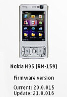 New Nokia N95 firmware available