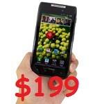 Motorola DROID RAZR with 16GB of memory for $199
