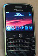 BlackBerry 9000 brings new interface
