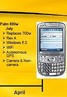 Palm Treo 800w a potential newcomer to Sprint