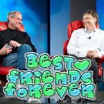 Steve Jobs and Bill Gates became close in the end