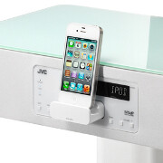 Meet JVC's iPhone speaker dock that doubles as a nightstand - available in black and white