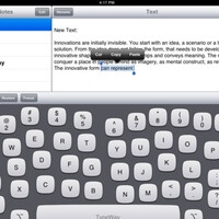 TypeWay iPad on-screen keyboard learns from your mistakes, morphs accordingly