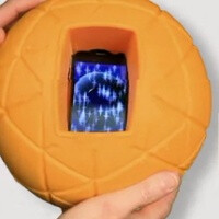 TheO is a foam ball to put your smartphone in, throw it around