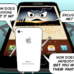 Comic shows what happens when Mr. iPhone meets Mr. Note