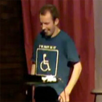 iPad gives comedian with cerebral palsy a voice