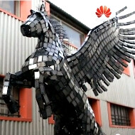 "Huawei outs a ""making of"" video about Pegasus, the horse it created out of 3, 500 smartphones"