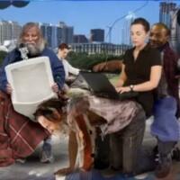 "Jon Stewart blasts ""I'm a 4G hotspot"" homeless people SXSW campaign"