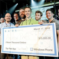 """Microsoft crowns the winners of the """"Big App on Campus"""" contest"""