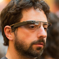 Google's Sergey Brin wears Project Glass prototype at a party (pictures)