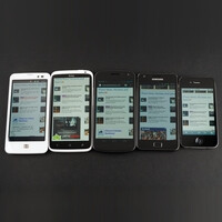 Display comparison: HTC One X vs iPhone 4S, Samsung Galaxy Nexus, LG Nitro HD, Samsung Galaxy S II