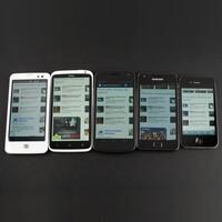 Display comparison: HTC One X vs iPhone 4S, Samsung Galaxy Nexus, LG Nitro HD, Samsung Galaxy S II