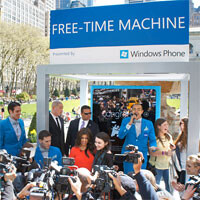 Microsoft operating its Free-Time Machine in 3 cities today