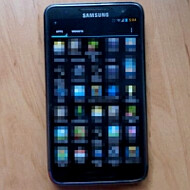 Alleged Samsung Galaxy S III photo surfaces, showing a rectangular home button and five row interface