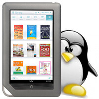 Full Linux distro with mouse & keyboard support running on Nook Color
