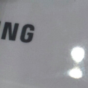 Samsung Unpacked app keywords refer to a Galaxy S3 title, fuzzy photo hints at the ceramic back