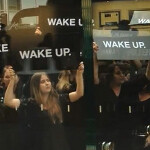 Samsung pays people to protest outside Australian Apple Store; goal is to mock iSheep culture