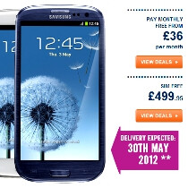 Carphone Warehouse pegs the Samsung Galaxy S III price at $809 with a free Galaxy Tab 10.1