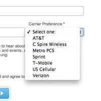 Galaxy S III U.S. signup page showed 7 carriers