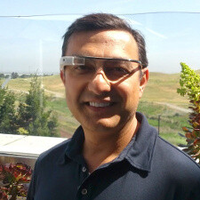 Project Glass camera shown off, Google+ head poses with the glasses