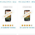 AT&T's HTC One X is listed as being