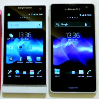 First design comparison shots and sample images from the Sony Xperia GX 13MP camera appear