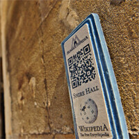 'Wikipedia town' features QR codes everywhere