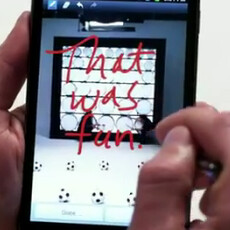 Mr. Posh Spice does commercial for Samsung GALAXY Note