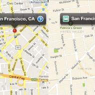Apple's iOS 6 beta Maps app compared to Google Maps
