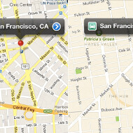 Apple's iOS 6 beta Maps app compared to Google Maps
