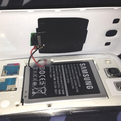 Samsung Galaxy S III plus salvaged Palm Pre parts equals wireless charging hack