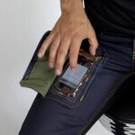 Jeans made with transparent pockets save you the trouble of pulling out your phone