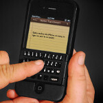 Spike combines a case with a physical QWERTY keyboard for the Apple iPhone