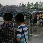 Thousands line up for a job at Foxconn as factory starts producing new Apple iPhone and Apple iPad