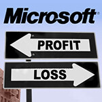 Microsoft has first ever quarterly loss after massive one-time charge