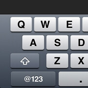 Take a look at the iPhone 5 landscape keyboard
